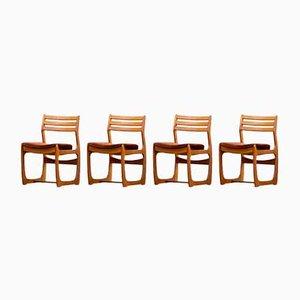 Skandinavische Stühle mit perforierten Rückenlehnen von Maison Portwood, 4er Set