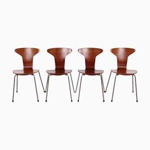 3105 Mosquito Stühle von Arne Jacobsen für Fritz Hansen, 1950er, 4er Set