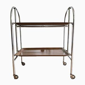 Vintage Collapsible 34 Bar Cart / Drinks Trolley from Pressolit, 1970s