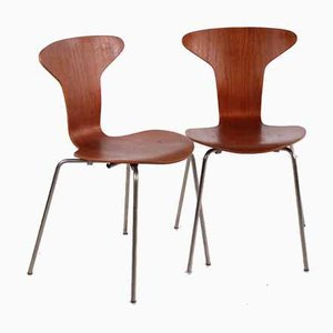 3105 Mosquito Chairs by Arne Jacobsen for Fritz Hansen, 1950s, Set of 2