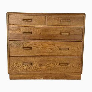 Mid-Century Oak Chest of Drawers from the Ministry of Defence