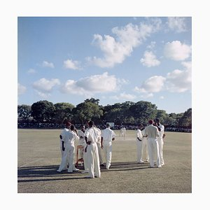 Cricket in Antigua Oversize C Print Framed in Black