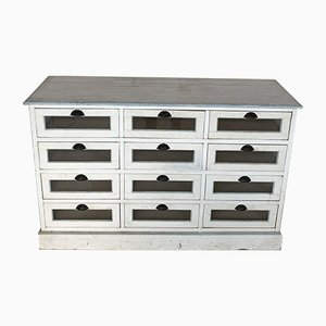 Vintage Painted Wood Haberdashery Drawers