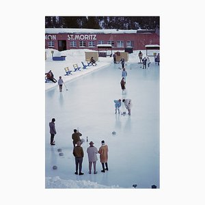 Curling at St. Moritz Oversize C Print Framed in Black