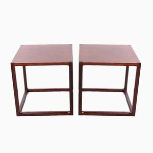 Cube S Couchtisch Set von Aksel Kjersgaard, Dänemark, 1950er, 2er Set