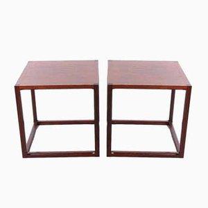 Juego de mesa de centro Cube S de Aksel Kjersgaard, Denmark, años 50. Juego de 2