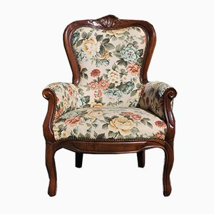 Baroque Beech Armchair, 1950s