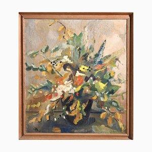 Cuadro danés con flores, años 40