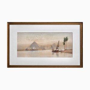 Orientalisches Aquarell von Douglas Pinder