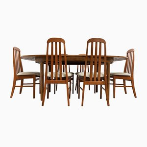 Mid-Century Vintage Teak Dining Table & 6 Dining Chairs from Nathan, 1960s