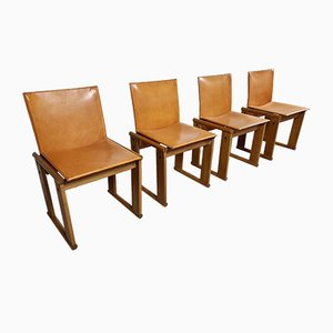 Monk Chairs by Afra & Tobia Scarpa for Molteni, 1970s, Set of 4