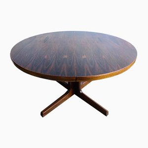 Danish Rosewood Oval Dining Table, 1960s