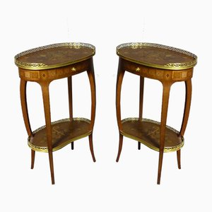 Inlaid Side Tables, Set of 2