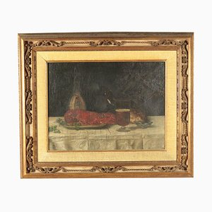 Still Life With Lobster (Canvas W: 61.00cm, H: 46.00 Cm.)