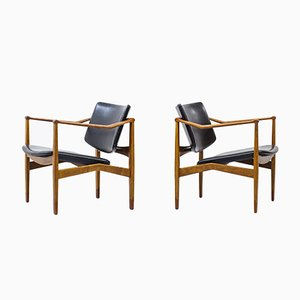 Lounge Chairs by William Watting, Set of 2