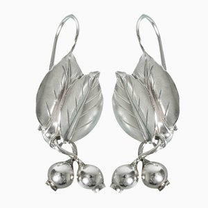 Silver Earrings by Gertrud Engel, Set of 2