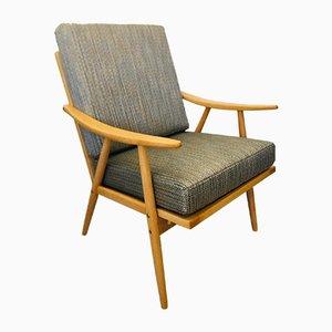 Grey & Beige Boomerang Armchair from Ton, 1960s
