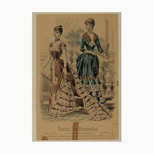 Desconocido, Journal Des Demoiselles, Litografía original, principios del siglo XX