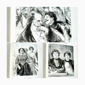 Paul Gavarni - La Mascarade Humaine - Illustriertes Vintage Buch - 1881