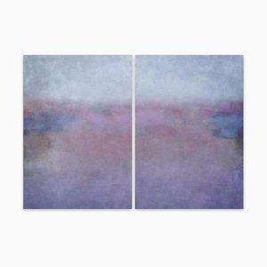 Luz de luna, (Pintura abstracta), 2021