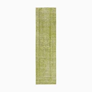 Grün Eingefärbter Läufer Teppich