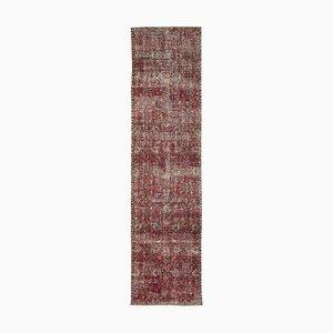 Rot Eingefärbter Läufer Teppich