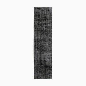 Black Overdyed Runner Rug