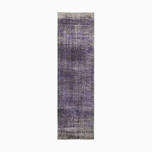 Purple Overdyed Runner Rug