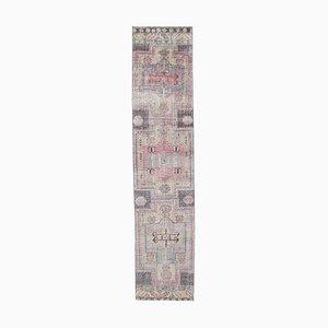 3x11 türkischer Vintage Oushak Läufer aus handgewebter Wolle
