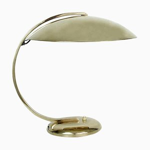 Art Deco Bauhaus Desk or Table Lamp in Brass from Hillebrand, 1930s