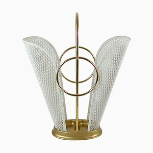 Mid-Century French White Umbrella Stand in the Style of Matégot, 1950s