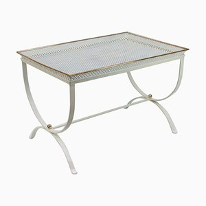 Mid-Century French White Side Table, 1950s