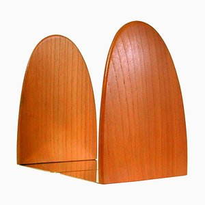 Mid-Century Danish Teak and Brass Bookends, 1950s, Set of 2