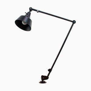 Lampe de Travail Vintage Industrielle Articulée Noire par Curt Fischer pour Midgard