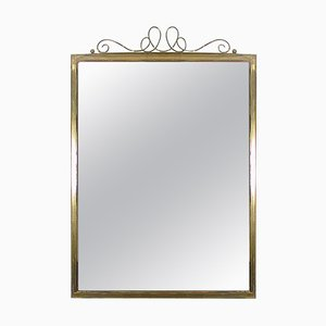 Mid-Century Brass Wall Mirror, 1950s