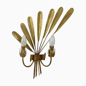 Mid-Century Spanish Gilt Sconce, 1950s