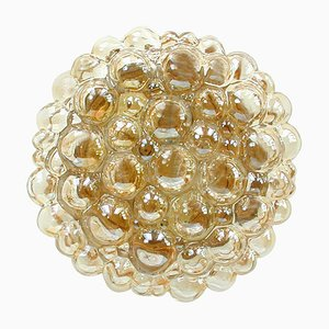 Amber Bubble Flush Mount Sconce by Helena Tynell for Limburg, 1960s