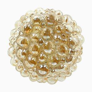 Bernsteinfarbene Bubble Wandlampe von Helena Tynell für Limburg, 1960er