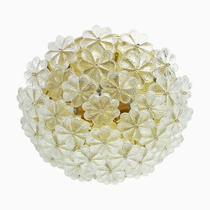 Mid-Century Floral Murano Flush Mount by Ernst Palme, Germany, 1960s