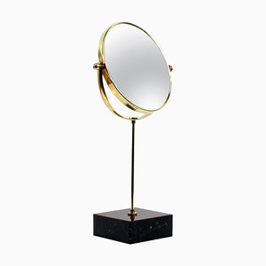 Mid-Century Italian Brass and Marble Table Mirror, 1950s
