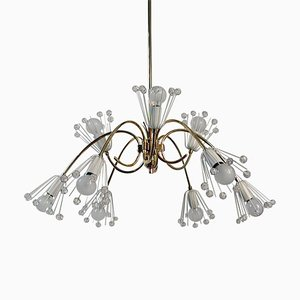 9-Arm Chandelier Ceiling Lamp by Emil Stejnar for Nikoll Vienna, 1950s