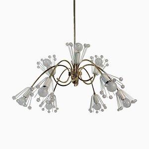 Lámpara de techo Chandelier de 9 brazos de Emil Stejnar para Nikoll Vienna, años 50