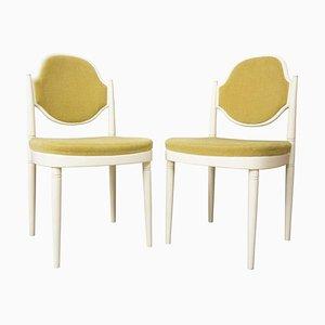 Stühle aus Holz & Samt von Hanno Von Gustedt, 1960er, 2er Set