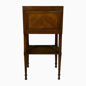 Directoire Bedside Table in Blonde Mahogany Blond, 1800s