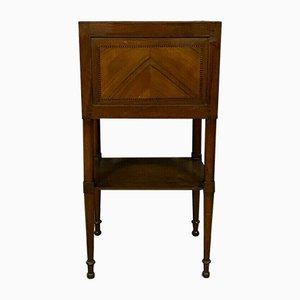 Directoire Nachttisch aus Blondem Mahagoni Hell, 1800er