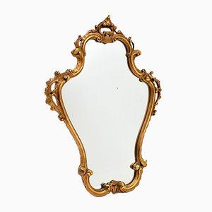 Miroir Antique Style Italian en Bois Doré