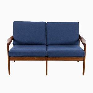 Dänisches Teak 2-Sitzer Sofa von Illum Wikkelsø für Niels Eilersen, 1960er