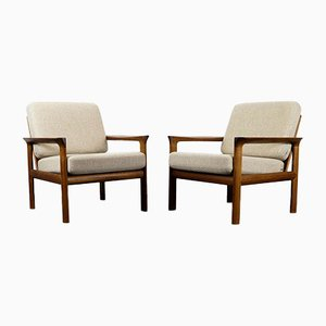 Teak Lounge Chairs by Sven Ellekaer for Komfort, 1960s, Set of 2