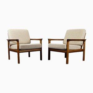 Teak Sessel von Sven Ellekaer für Komfort, 1960er, 2er Set