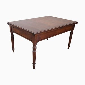 Antique Walnut Extendable Dining Room Table, 1850s